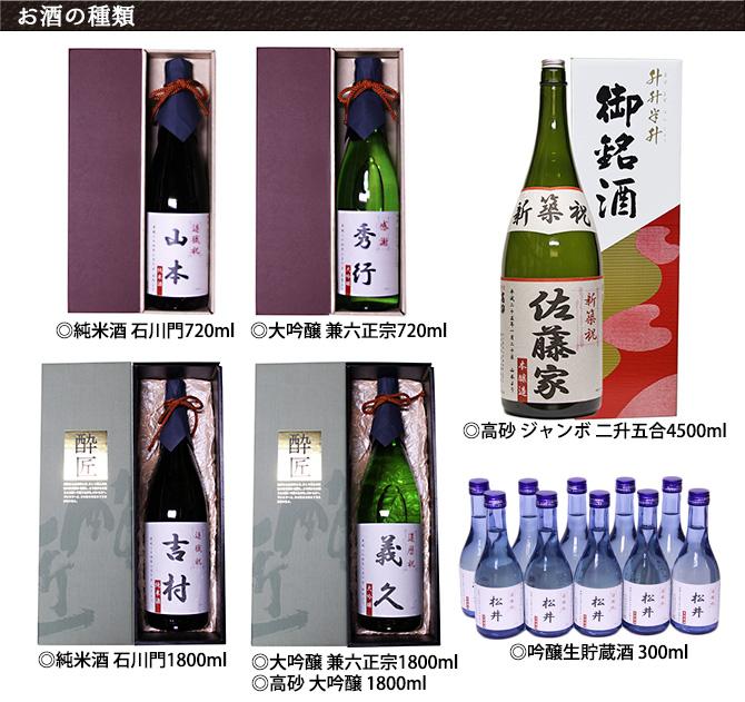 法人ラベル酒日本酒の種類