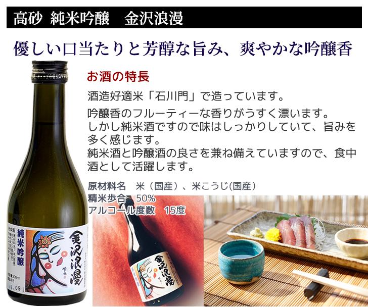 酒造好適米の山田錦を50%までに精米し、 手取川の伏流水で丹精込めて醸された 吟醸仕込みの純米酒です。