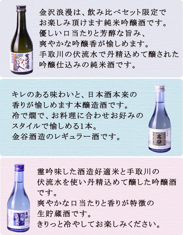 飲み比べ300ml×3本商品説明